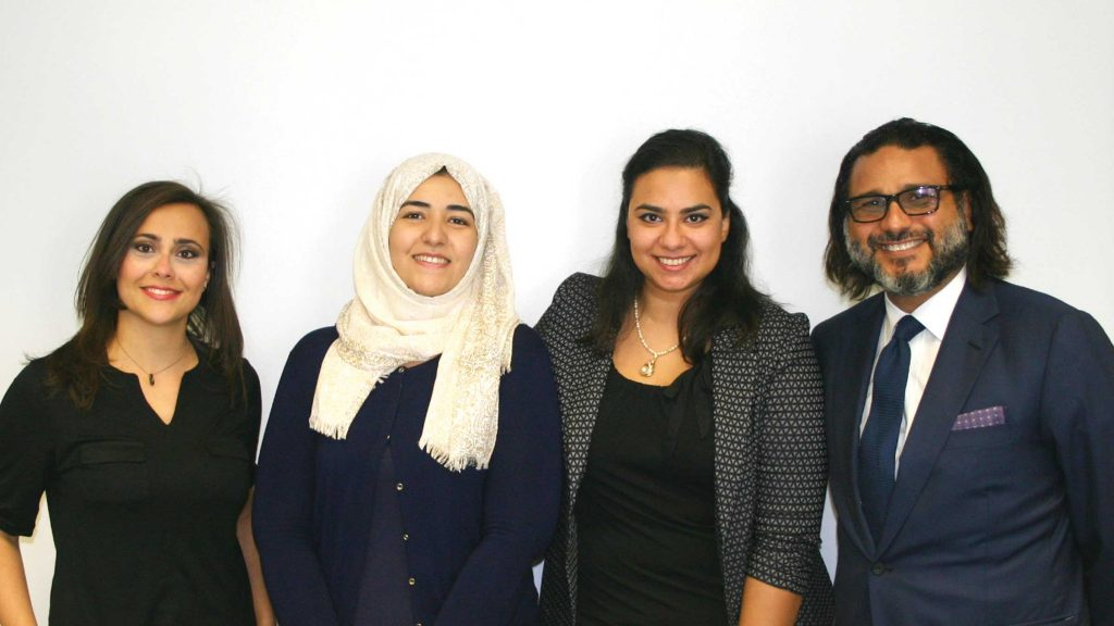 Recipients of the full-ride Hani Farsi Graduate Scholarship Fund